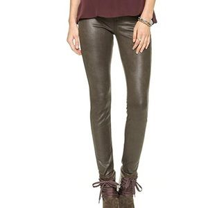 7 for All Mankind Brown Knee Seam Skinny Jeans 25